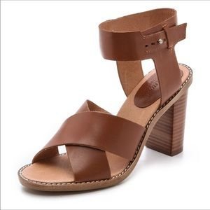 Madewell crisscross Frida sandals 7 stacked heel